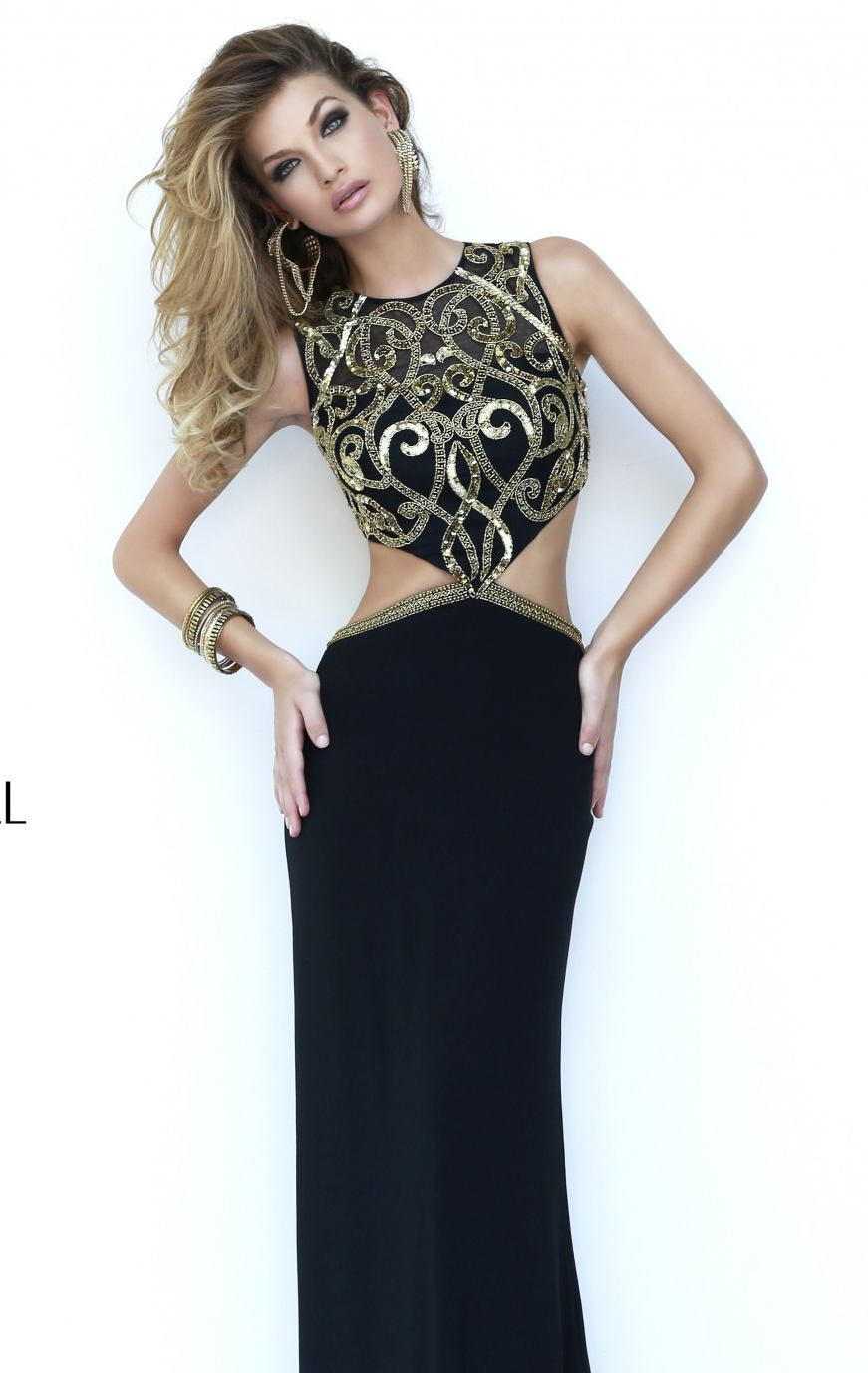 Sherri Hill 11209 black/gold