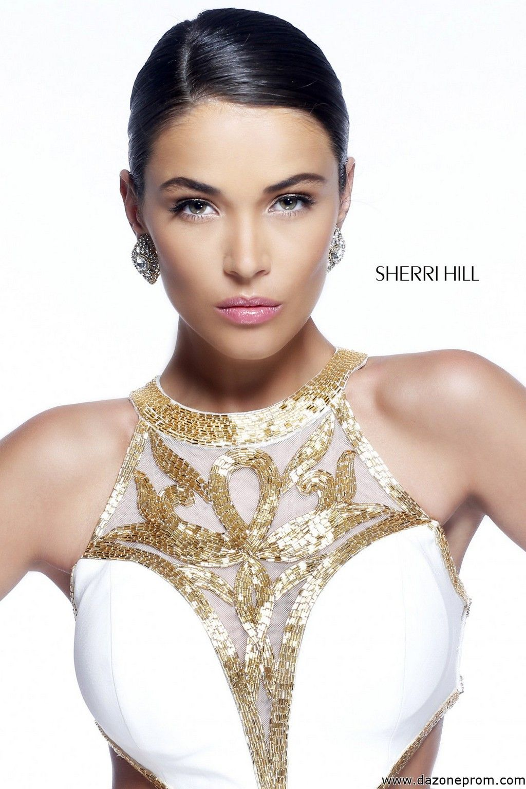 Sherri Hill 11124 ivory/gold