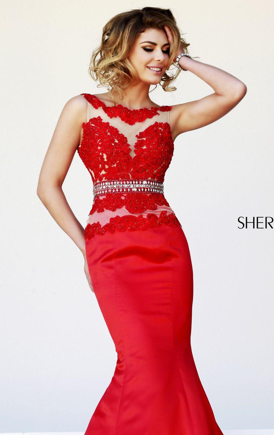 Sherri Hill 32033 red/nude