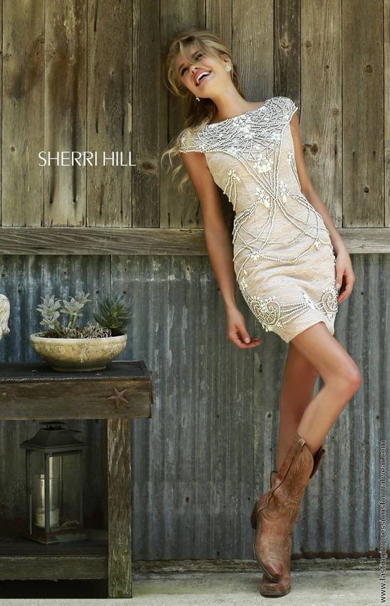 Sherri Hill 11162 ivory/nude