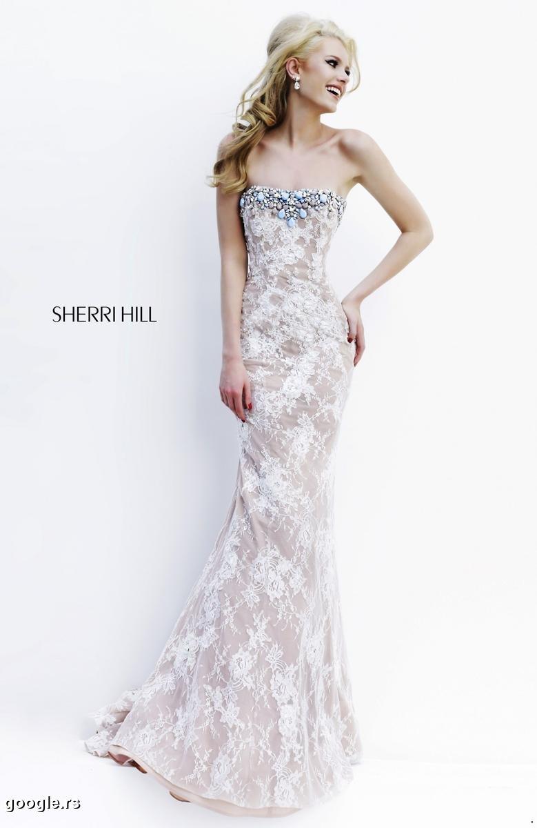 Sherri Hill 11256 ivory/nude