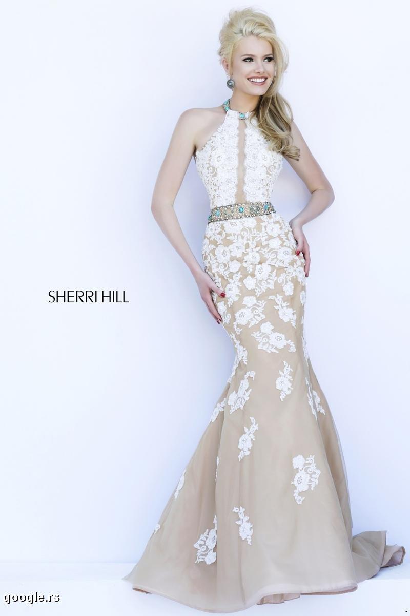 Sherri Hill 32227 ivory/nude