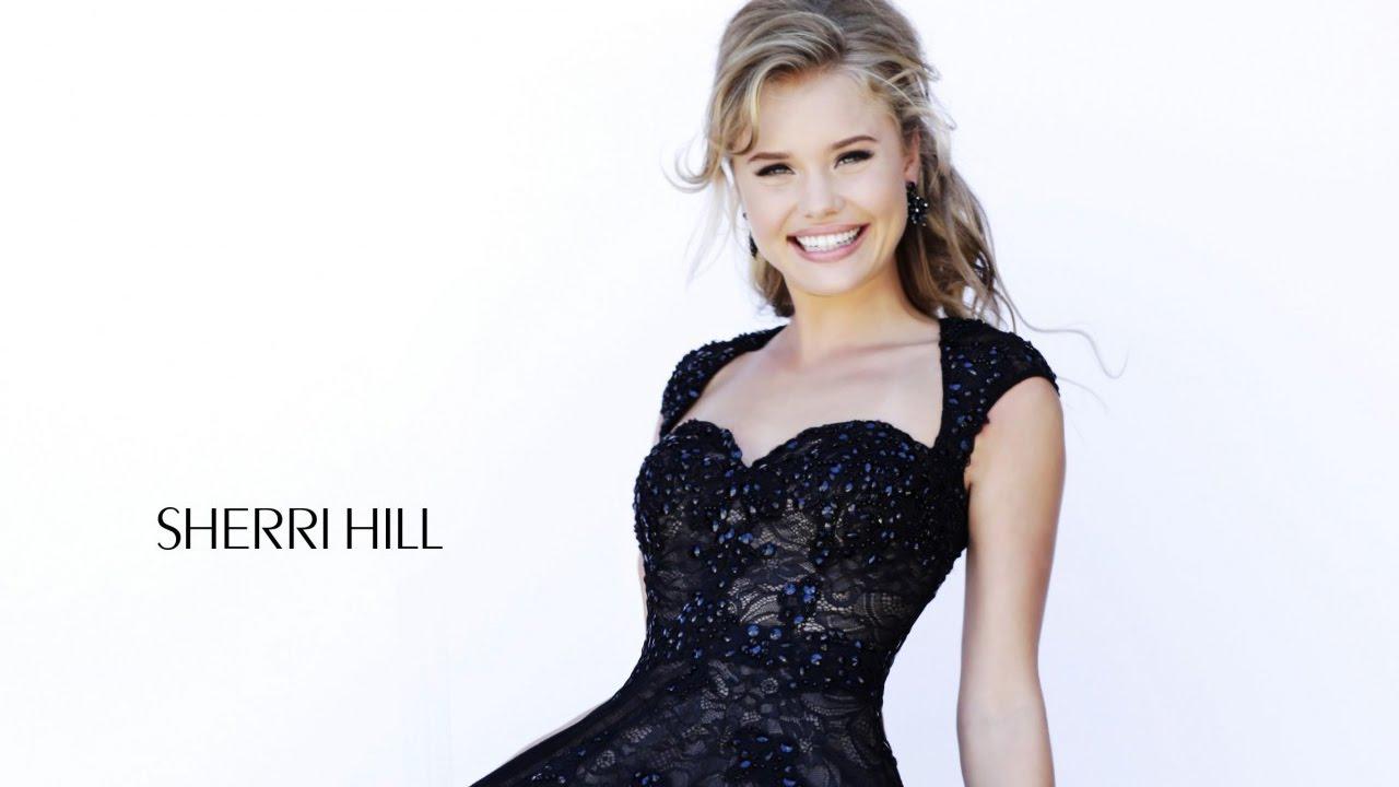 Sherri Hill 4331 black/nude