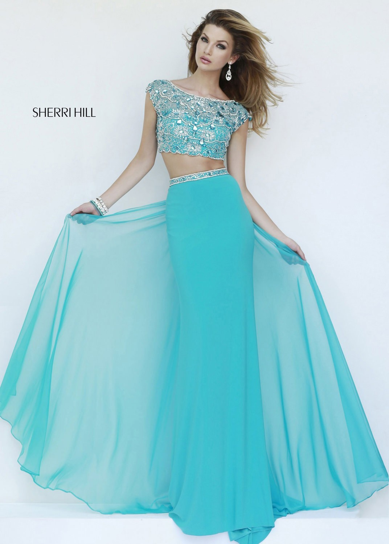 Sherri Hill 11197 turquoise