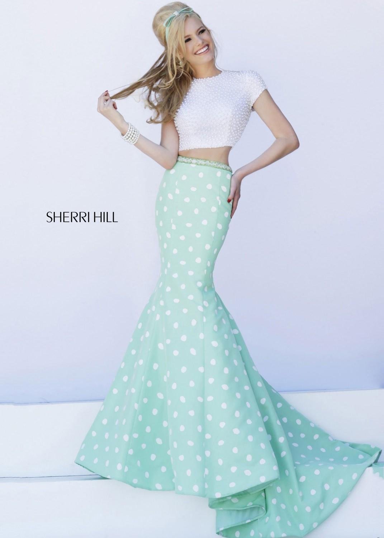 Sherri Hill 32226 ivory/mint